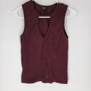 Forever 21 maroon burgundy tank top ribbed large